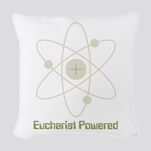 Eucharist Powered Woven Throw Pillow