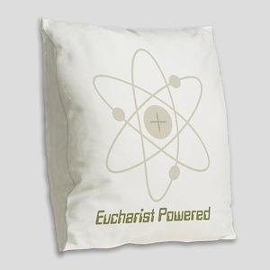 Eucharist Powered Burlap Throw Pillow