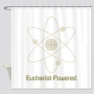 Eucharist Powered Shower Curtain