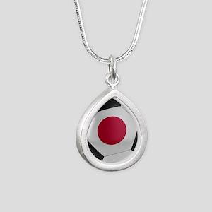 Japan Soccer Ball Silver Teardrop Necklace