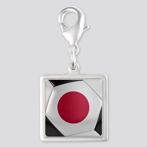 Japan Soccer Ball Silver Square Charm