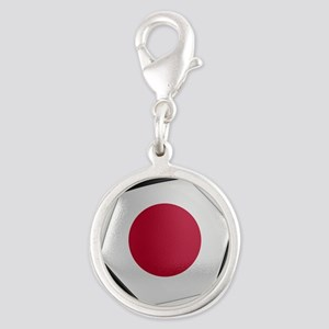 Japan Soccer Ball Silver Round Charm