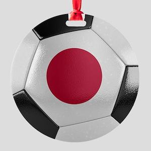 Japan Soccer Ball Round Ornament