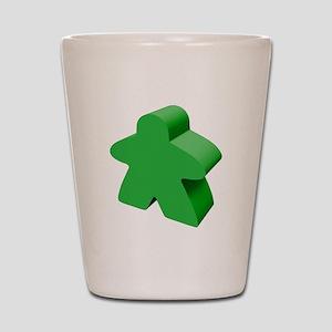 Green Meeple Shot Glass
