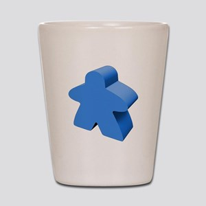 Blue Meeple Shot Glass