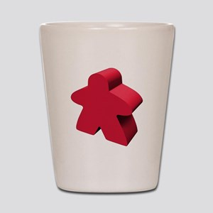 Red Meeple Shot Glass