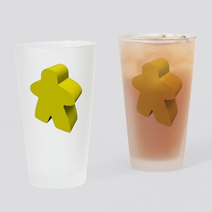 Yellow Meeple Drinking Glass