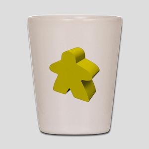 Yellow Meeple Shot Glass