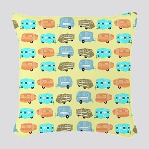 Rambling RVs Woven Throw Pillow