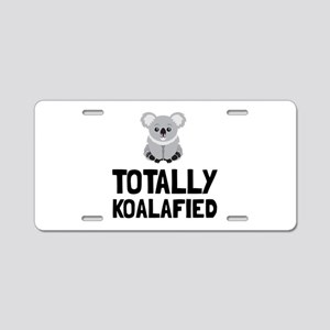 Totally Koalafied Aluminum License Plate
