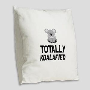 Totally Koalafied Burlap Throw Pillow