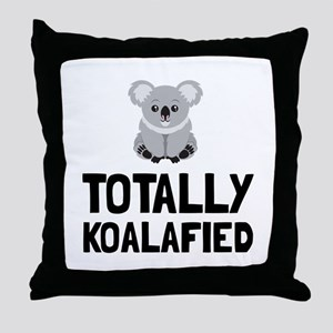 Totally Koalafied Throw Pillow