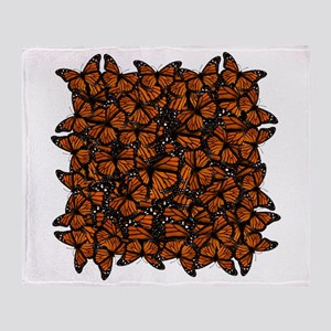Countless Monarch Butterflies Throw Blanket