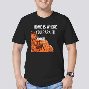 Home Is Where You Park Men's Fitted T-Shirt (dark)