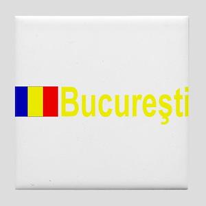 Bucuresti, Romania Tile Coaster
