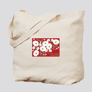 Love And Poppies Tote Bag