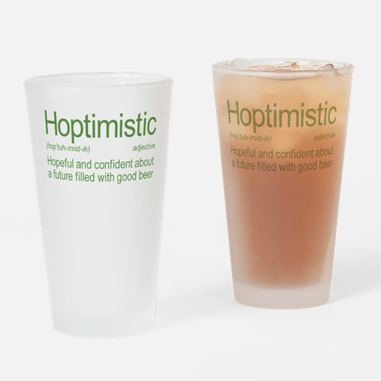 Hoptimistic Beer Drinking Glass