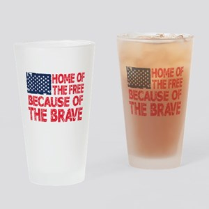 Home of the Free Because of the Brave USA Flag Dri