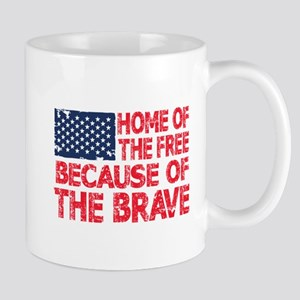 Home of the Free Because of the Brave USA Flag Mug