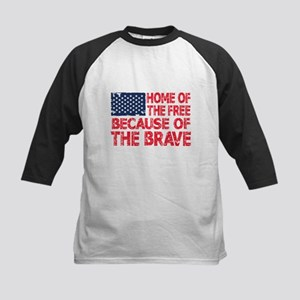 Home of the Free Because of the Brave USA Flag Bas