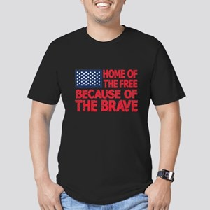 Home of the Free Because of the Brave USA Flag T-S