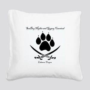 Seadog Nights Logo - Title Square Canvas Pillow