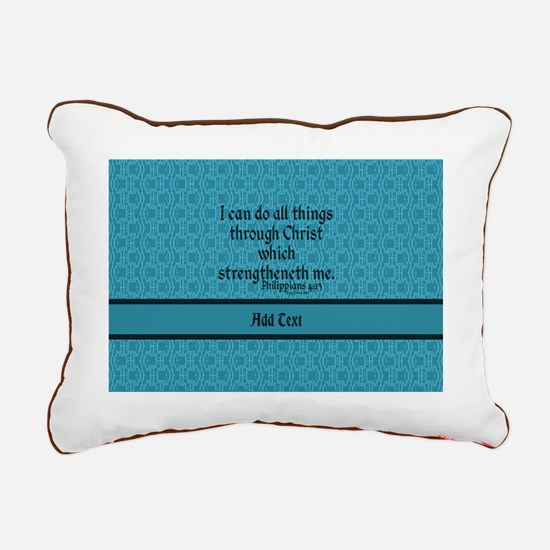Philippians 4:13 Word te Rectangular Canvas Pillow