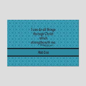 Philippians 4:13 Word teal Mini Poster Print