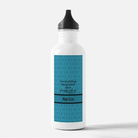 Philippians 4:13 Word Sports Water Bottle