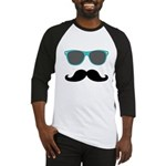 Mustache Blue Sunglasses Baseball Jersey