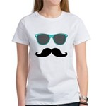 Mustache Blue Sunglasses T-Shirt