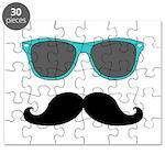 Mustache Blue Sunglasses Puzzle