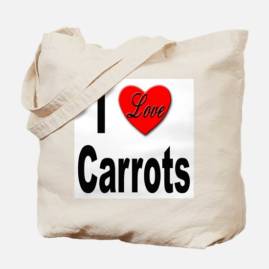 I Love Carrots Tote Bag