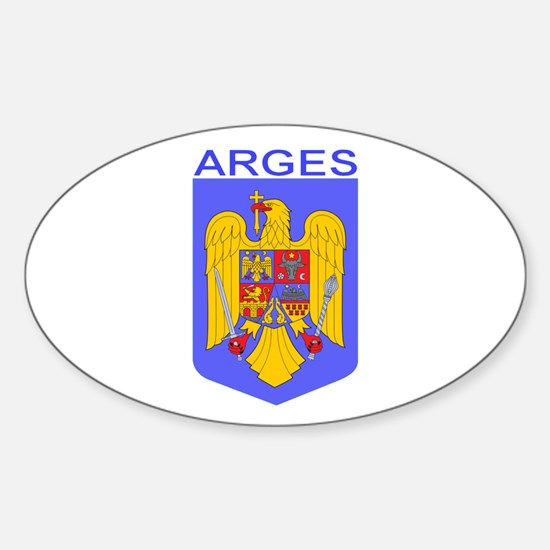 Arges, Romania Oval Decal
