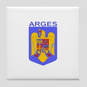 Arges, Romania Tile Coaster