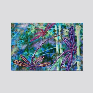 Dragonflies Forest Light Magnets