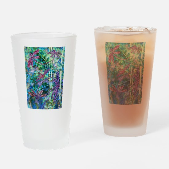 Dragonflies Forest Light Drinking Glass