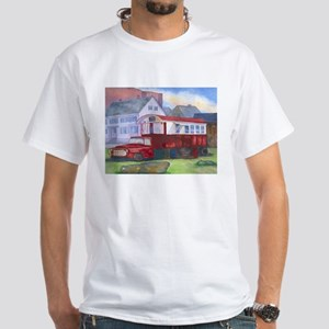 Gilleys Diner Portsmouth NH White T-Shirt