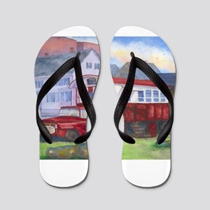 Gilleys Diner Portsmouth NH Flip Flops