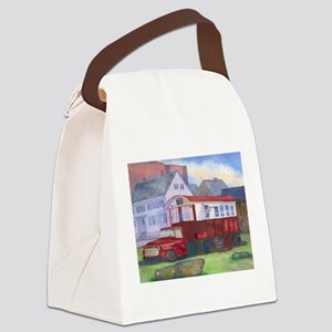 Gilleys Diner Portsmouth NH Canvas Lunch Bag