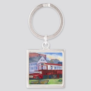 Gilleys Diner Portsmouth NH Square Keychain