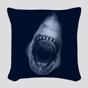 Shark Bite Woven Throw Pillow