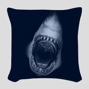 Shark Bite Woven Throw Pillow