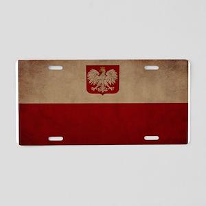 Poland Aluminum License Plate