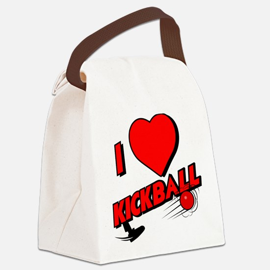 I LOVE KICKBALL Canvas Lunch Bag