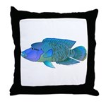 Humphead Wrasse Throw Pillow