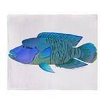 Humphead Wrasse Throw Blanket