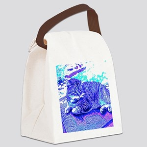 Abstract Cat Canvas Lunch Bag