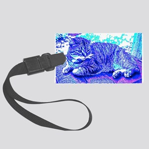 Abstract Cat Luggage Tag