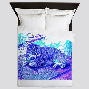 Abstract Cat Queen Duvet